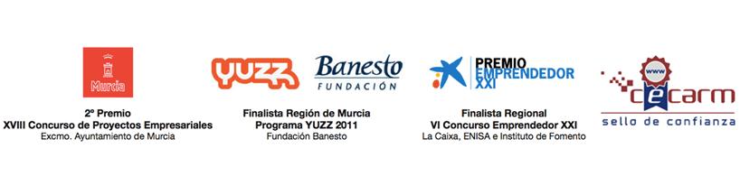 Ayuntamiento de Murcia, Yuzz Banesto (finalista Región de Murcia), Emprendedor XXI de la Caixa (finalista Región de Murcia)